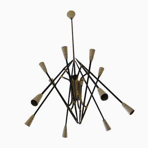 Italian Sputnik Chandelier with 12 Lights, 1950s