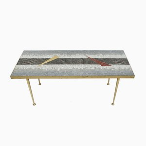 Center Table with Tessellated Top, 1950s