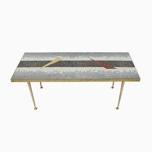 Center Tisch mit Tesselierter Platte, 1950er