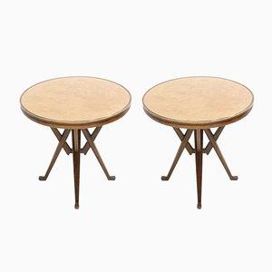 Vintage Ash Side Tables