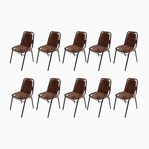 Les Arcs Chairs by Charlotte Perriand, 1970s, Set of 10