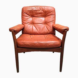Vintage Sessel aus Palisander & Leder