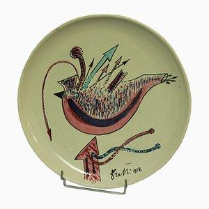 Italienischer Teller von Rami, 1978