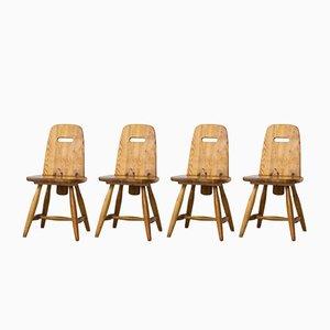 Chaises de Salon Pirtti en Pin par Eero Aarnio pour Laukaan Puu, 1960s, Set de 4