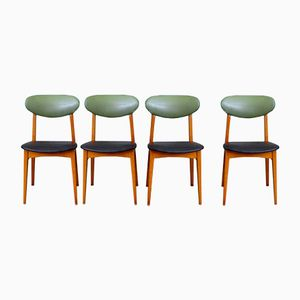 French Modernist Chairs by Pierre Guariche, Set of 4