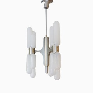 Vintage Space Age Chandelier by Carlo Nason for Mazzega, 1960s