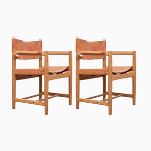 Scandinavian Model 3238 Armchairs by Børge Mogensen for Fredericia, 1951, Set of 2