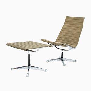 Vintage EA116 & EA125 Stuhl und Hocker von Charles & Ray Eames für Herman Miller
