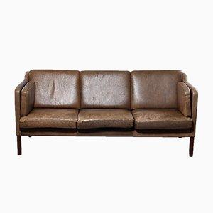 Vintage Drei-Sitzer Ledersofa