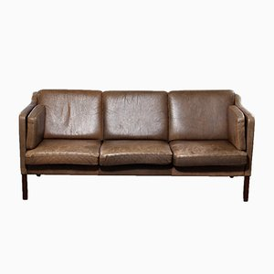 Vintage Three-Seater Leather Sofa