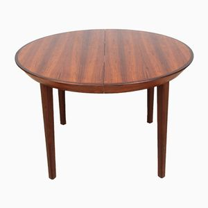 Round Scandinavian Rio Rosewood Dining Table from Gudme, 1950s