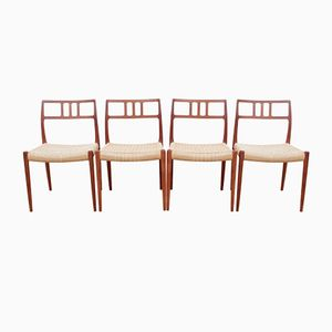 Danish Model 79 Teak Chairs by Niels O. Møller for J.L. Møllers, 1980s, Set of 4