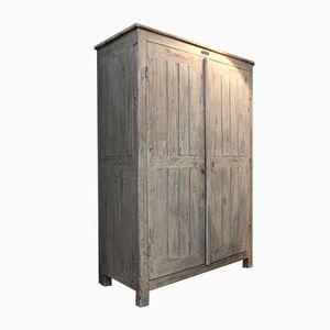 Armadio da laboratorio vintage in legno