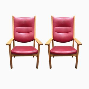 Getama Armchairs by Hans Wegner, 1950s, Set of 2