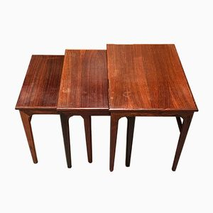 Nesting Tables in Rosewood, 1950s, Set of 3