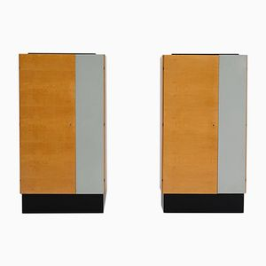 Modernist Wardrobes, 1950s, Set of 2