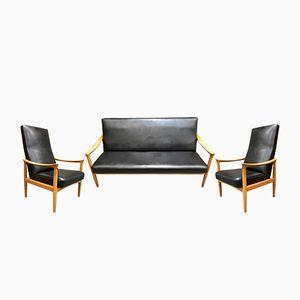 Wohnzimmerset mit Sofa & 2 Sesseln von Fritz Hansen