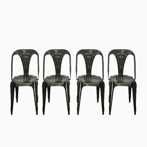 Industrielle Vintage Stühle von Joseph Mathieu für Multipl's, 6er Set
