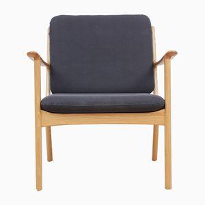 Danish PJ 112 Maple Lounge Chair by Ole Wanscher for Poul Jeppesens Møbelfabrik, 1951