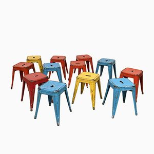 H45 Stools by Xavier Pauchard for Tolix, 1950s, Set of 12
