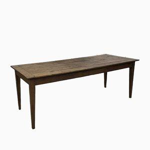 Antiker Bauerntisch mit Konischen Tischbeinen