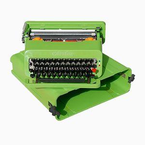 Macchina per scrivere Valentine vintage verde di Ettore Sottsass per Olivetti