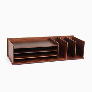 Mid-Century Modern Desk Top Organizer in Rio Rosewood from Georg Petersens, 1960s