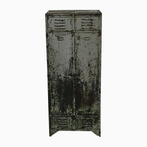 Vintage Riveted Locker with 2 Doors