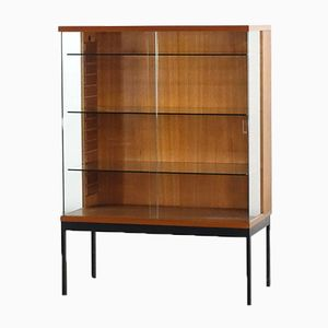 Teak Veneer Display Cabinet by Dieter Wäckerlin for Behr, 1960