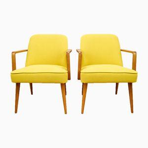 Kleine Gelbe Deutsche Sessel, 1960er, 2er Set