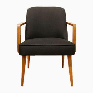Kleiner Schwarzer Deutscher Sessel, 1960er