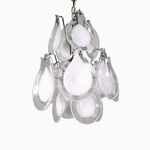 Murano Glas Blüten Kronleuchter von Gino Vistosi für Venini, 1960er