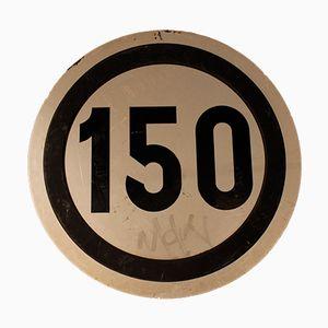 Spanisches Vintage Eisenbahn Schild