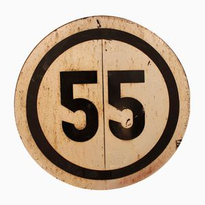 Large Vintage Railroad 55 Speed Limit Sign