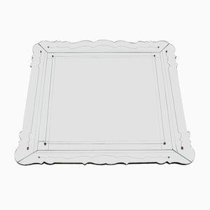 Großer Italienischer Mid-Century Spiegel von Fontana Arte