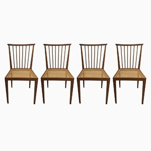 Mid-Century Dining Chairs by Hagenauer Wien, Set of 4