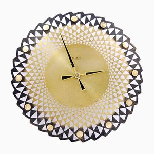 German Sun Shaped Wall Clock from Weimar, 1970s