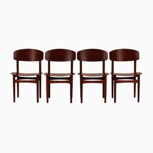 Danish Dining Chairs Model 122 by Børge Mogensen for Søborg Møbler, 1960s, Set of 4