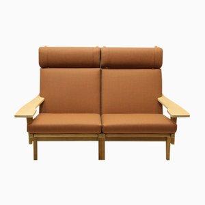 Vintage GE375 Zwei-Sitzer Sofa von Hans J. Wegner für Getama