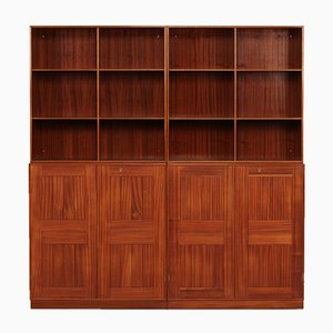 Bibliothèque en Quatre Parties en Acajou par Mogens Koch pour Rud. Rasmussen, Danemark, 1960s