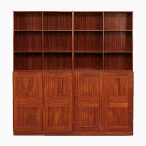 Vierteiliges Dänisches Mahagoni Bücherregal von Mogens Koch für Rud. Rasmussen, 1960er