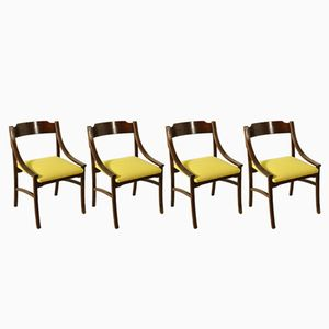 Vintage Rosewood Chairs, 1960s, Set of 4