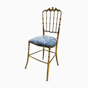 Italienischer Vintage Chiavari Messing Stuhl