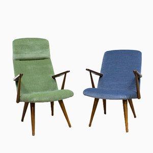 Vintage Samt Sessel von Akerblom, 2er Set