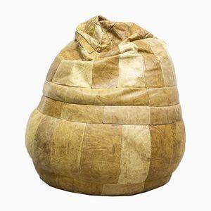 Pouf vintage in pelle patchwork di De Sede