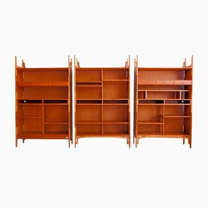 Stackable Bookcase or Wall Unit from Knud Juul-Hansen, Set of 3