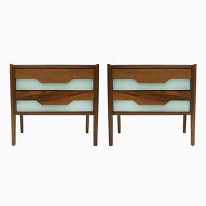 Tables de Chevet en Palissandre, Italie, 1950s, Set de 2