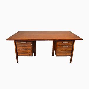 Mid-Century Danish Rosewood 6-Drawer Office Desk from Kontor Møbler, 1971