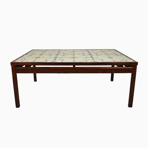 Mid-Century Danish Rosewood Tile Topped Coffee Table