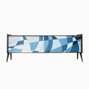 Norwegian Sideboard with Modernist Pattern, 1960s
